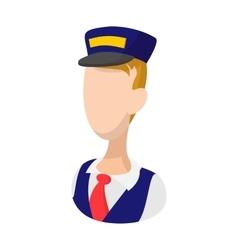 Train driver cartoon icon vector