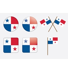Badges with flag of panama vector