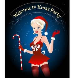 Welcome to Xmas Party vector image