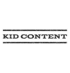 Kid content watermark stamp vector