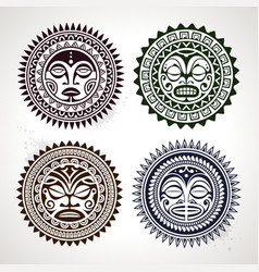 Polynesian Circle Patterns vector image
