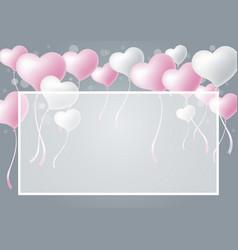 Love concepts of heart balloon vector