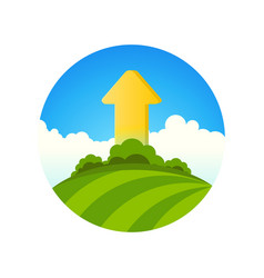 Symbol of ecology growth vector