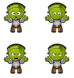 Monster With Arms Up vector image
