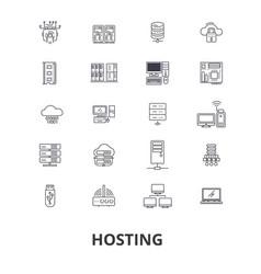 hosting hostess web server cloud hosting vector image