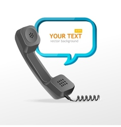 Phone receiver as text box vector