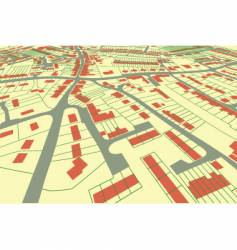 Street map perspective vector