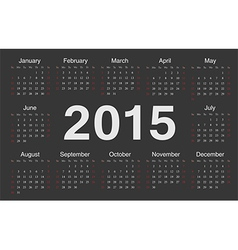Circle european 2015 year calendar vector
