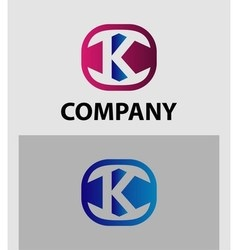 K letter logo icon design template element vector