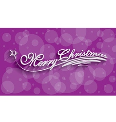 Merry christmas hand lettering greeting card vector