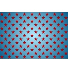 Abstract red stars on blue background vector
