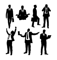 Businessman activity silhouettes vector