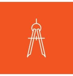 Compass line icon vector