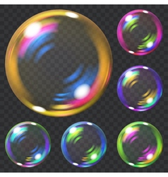 Set of soap bubbles vector image