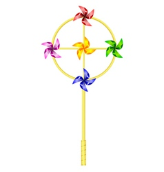Childrens toy pinwheel vector