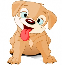 funny puppy vector image