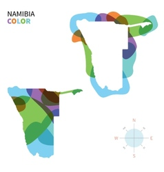 Abstract color map of namibia vector