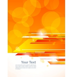 Abstract orange tech background vector image