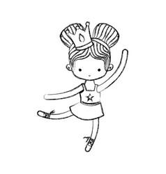 Ballet dancer design vector