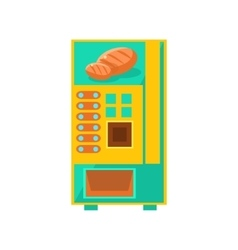 Bread vending machine design vector