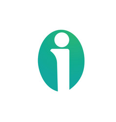 circle letter i logo vector image
