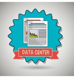data center eps10s statistics vector image