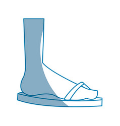 Feet with flip flop beach design vector