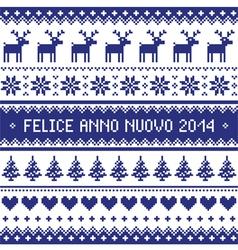 Felice Anno Nuovo 2014 - italian happy new year vector image