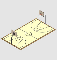 field of play basketball isometric vector image vector image