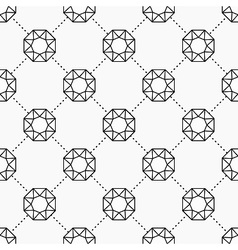 Gemstone pattern vector