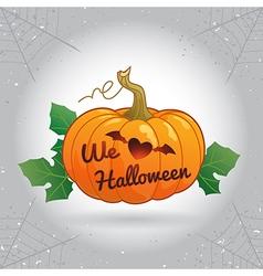 Happy Halloween we love Halloween pumpkin vector image vector image