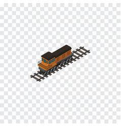 Isolated locomotive isometric train vector
