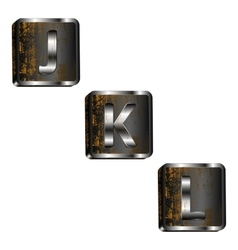 jkl iron letters vector image