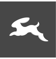 Jumping bunny rabbit abstract minimalism vector image