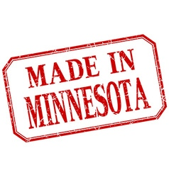 Minnesota - made in red vintage isolated label vector