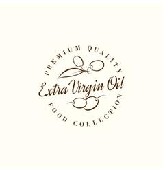 Natural olive oil labels vector image
