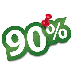 Ninety percent sticker vector image