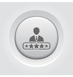 Quality management icon grey button design vector