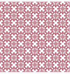 Red damask seamless pattern backdrop vector