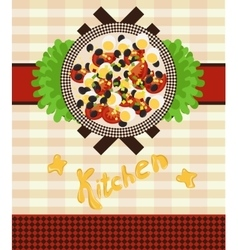 set for a menu with salad vector image