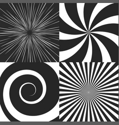 set of psychedelic spiral vector image