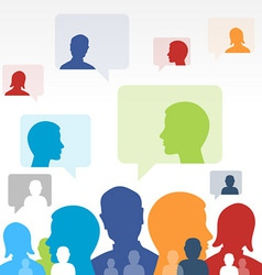 Social Media Communication vector image vector image