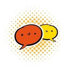 Speach bubles comics icon vector