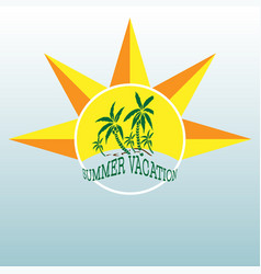 Summer label lettering typography vector