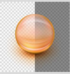 transparent soft gel capsule eps 10 vector image vector image