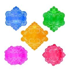 Vintage labels set colorful frames design vector image vector image