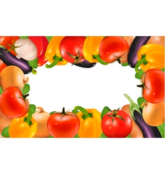 Frame made of vegetables vector