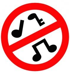 no music vector image