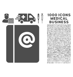 Emails icon with 1000 medical business pictograms vector