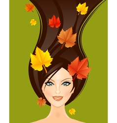 Autumn woman vector